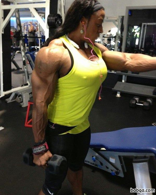 perfect lady with muscle body and muscle ass photo from facebook