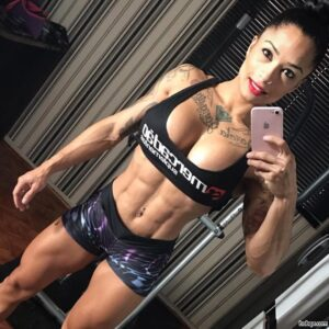sexy chick with muscular body and toned biceps pic from facebook