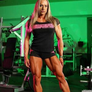 awesome babe with strong body and toned arms post from facebook