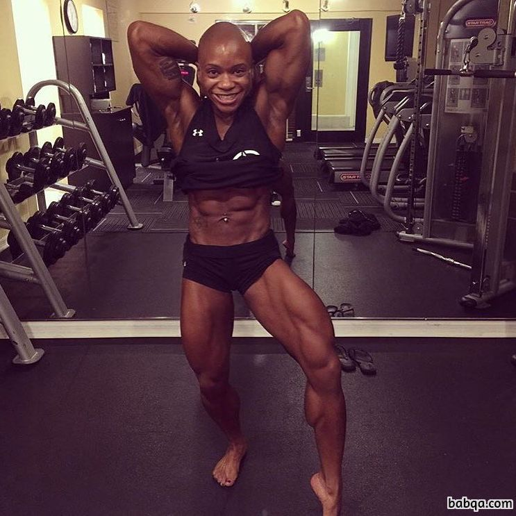 perfect chick with muscle body and muscle biceps post from linkedin