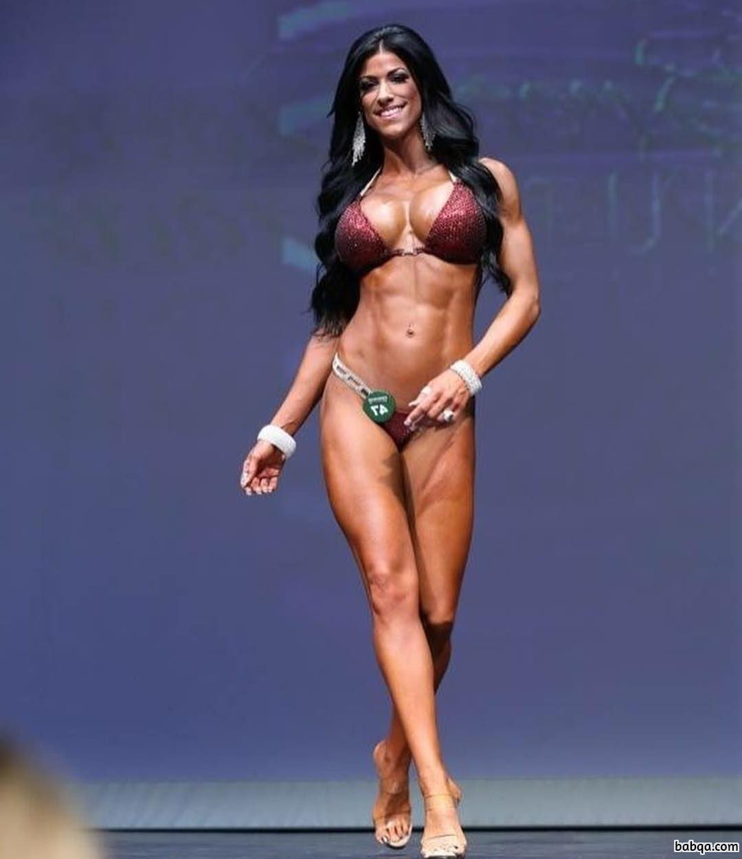 beautiful female bodybuilder with strong body and toned ass repost from g+