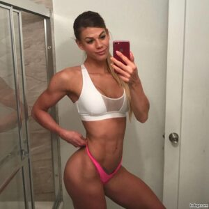beautiful female bodybuilder with strong body and muscle bottom repost from insta