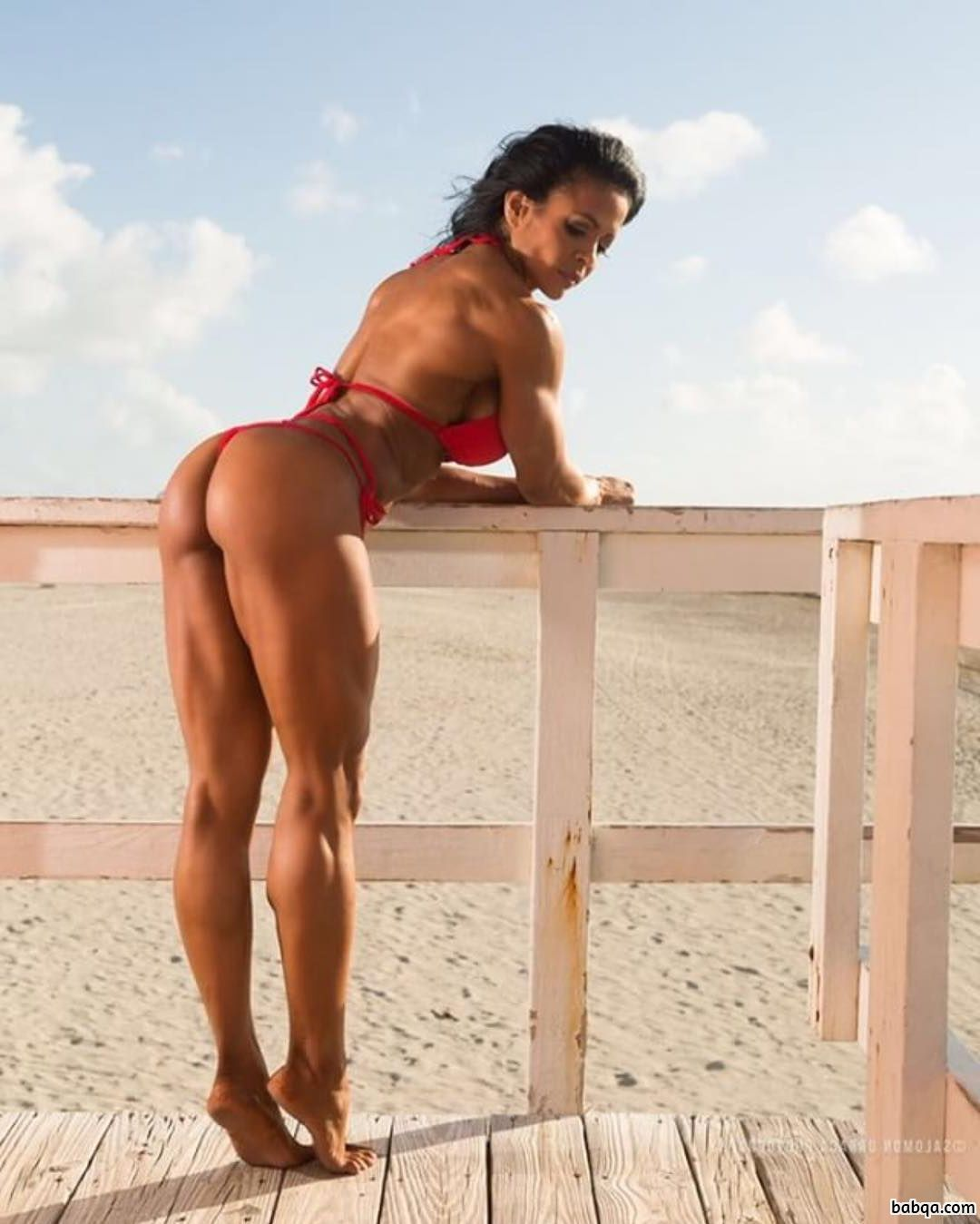 perfect chick with strong body and muscle arms image from flickr