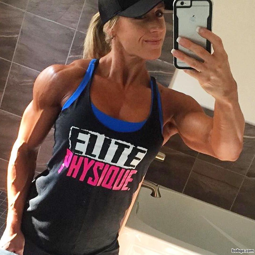 hottest woman with muscle body and muscle arms image from flickr