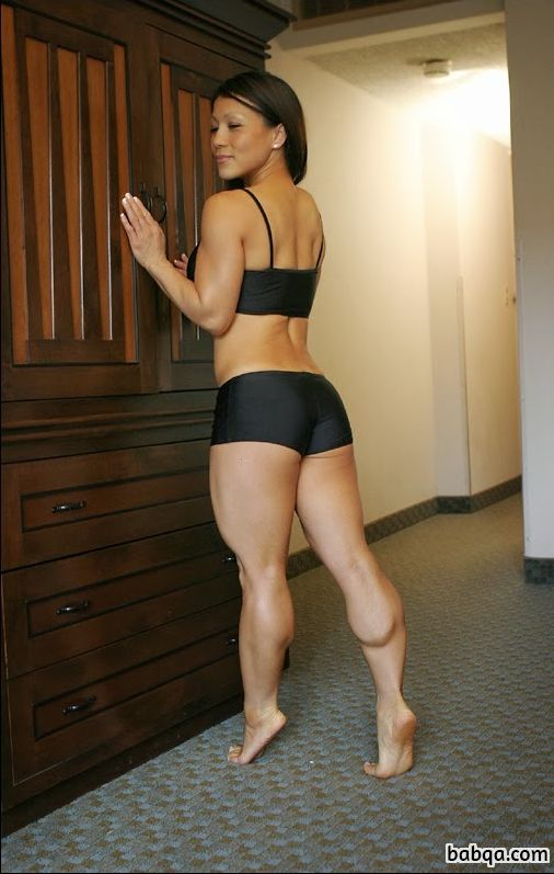 cute female bodybuilder with strong body and muscle biceps repost from facebook