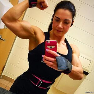 spicy girl with fitness body and muscle bottom image from g+