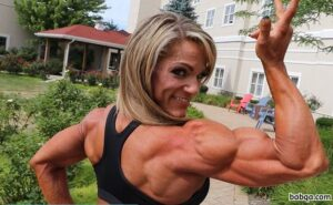hottest female bodybuilder with strong body and muscle bottom image from flickr