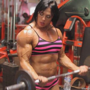 awesome female bodybuilder with muscle body and muscle ass post from reddit