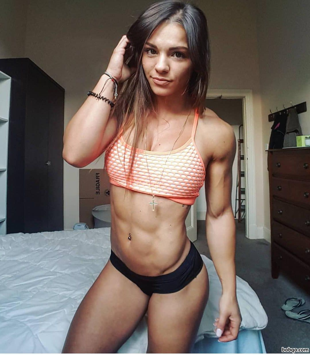 cute lady with fitness body and toned biceps photo from flickr
