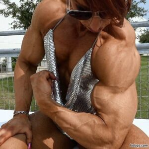 cute female bodybuilder with muscle body and muscle bottom photo from linkedin