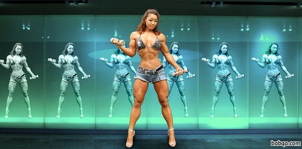 beautiful female with muscle body and toned legs picture from facebook