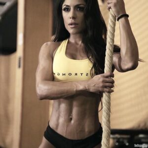hottest lady with muscular body and muscle booty image from facebook
