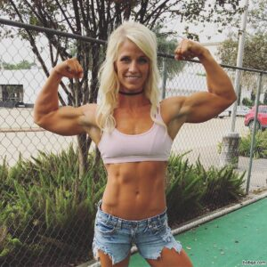 perfect woman with muscle body and toned ass pic from tumblr