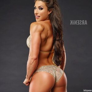 awesome lady with muscle body and muscle arms pic from linkedin