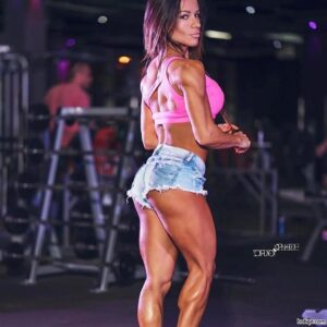 hot lady with strong body and muscle booty post from linkedin