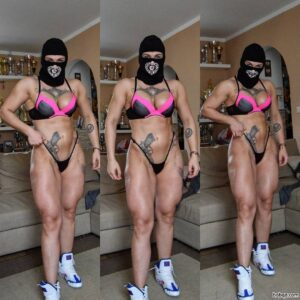 cute female with strong body and muscle arms image from facebook