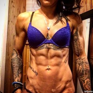perfect chick with fitness body and muscle bottom image from reddit
