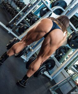 cute woman with muscular body and muscle biceps image from reddit