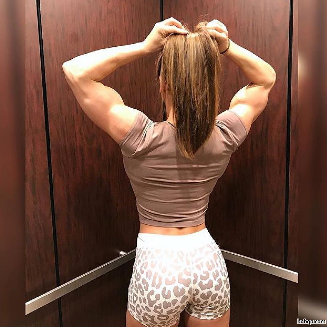 sexy chick with fitness body and muscle arms picture from reddit