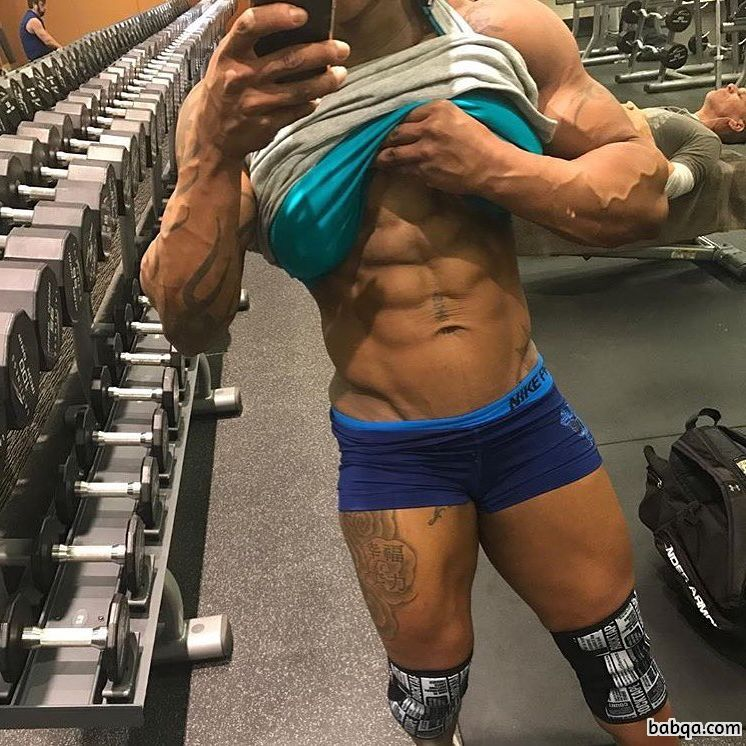 hot female bodybuilder with fitness body and muscle booty picture from g+