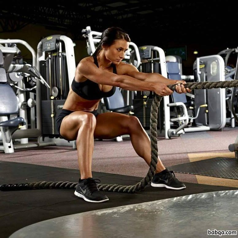 awesome lady with muscle body and muscle arms post from facebook
