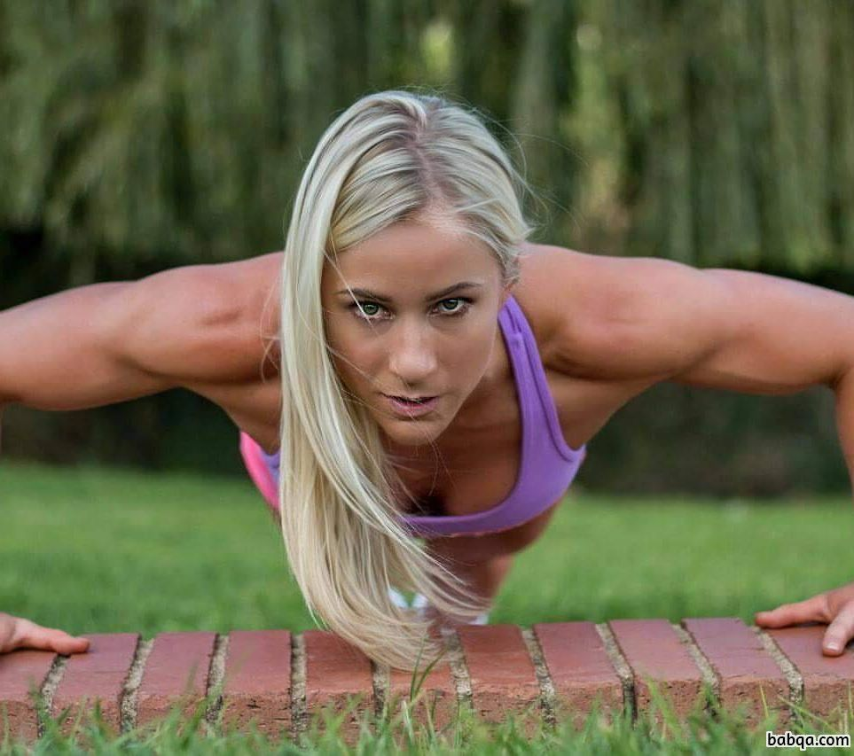 hottest babe with strong body and toned biceps pic from facebook