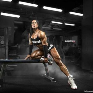 awesome female bodybuilder with strong body and toned bottom repost from facebook