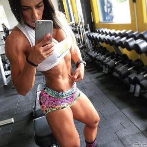 cute babe with fitness body and muscle booty image from linkedin