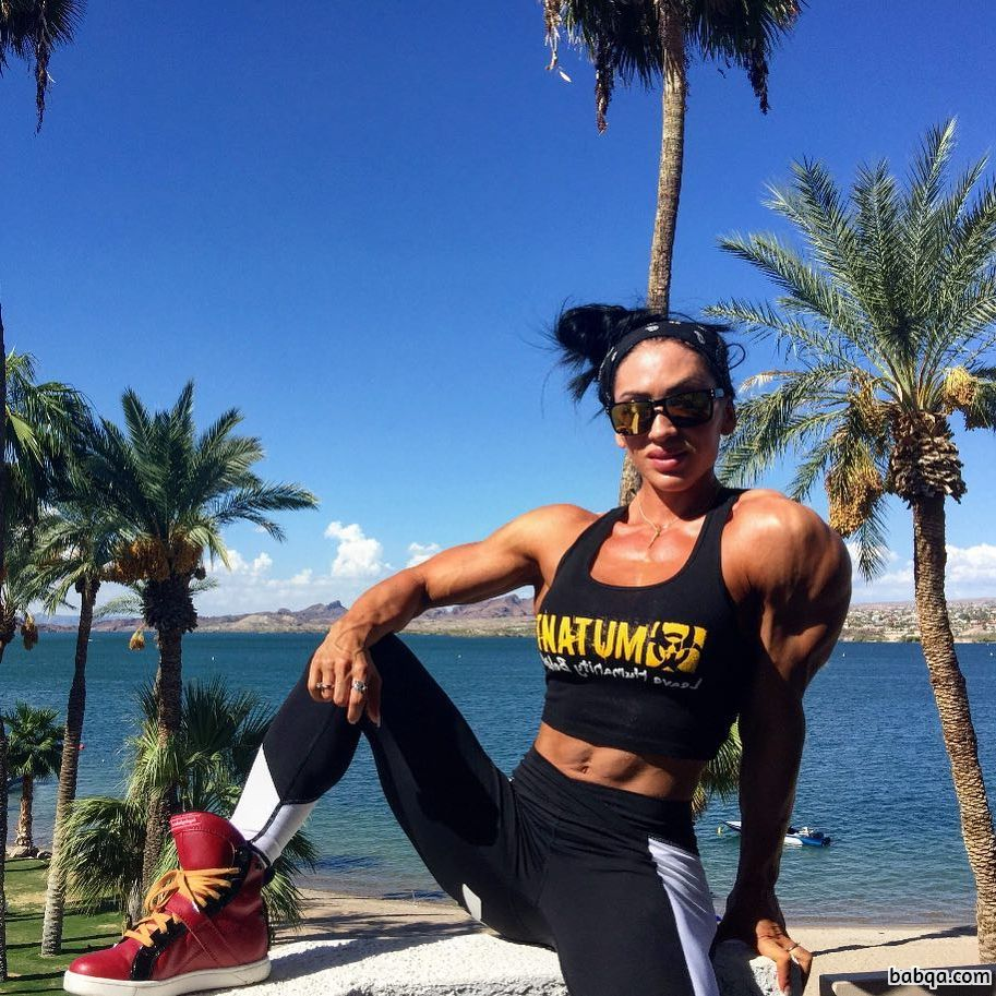 beautiful female bodybuilder with fitness body and muscle ass picture from reddit