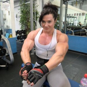 sexy chick with strong body and toned biceps picture from g+