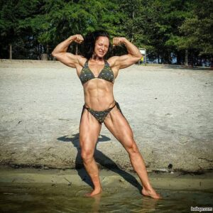 beautiful female bodybuilder with fitness body and toned booty repost from linkedin