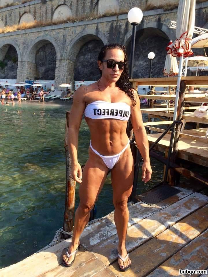 perfect babe with muscle body and muscle arms post from tumblr