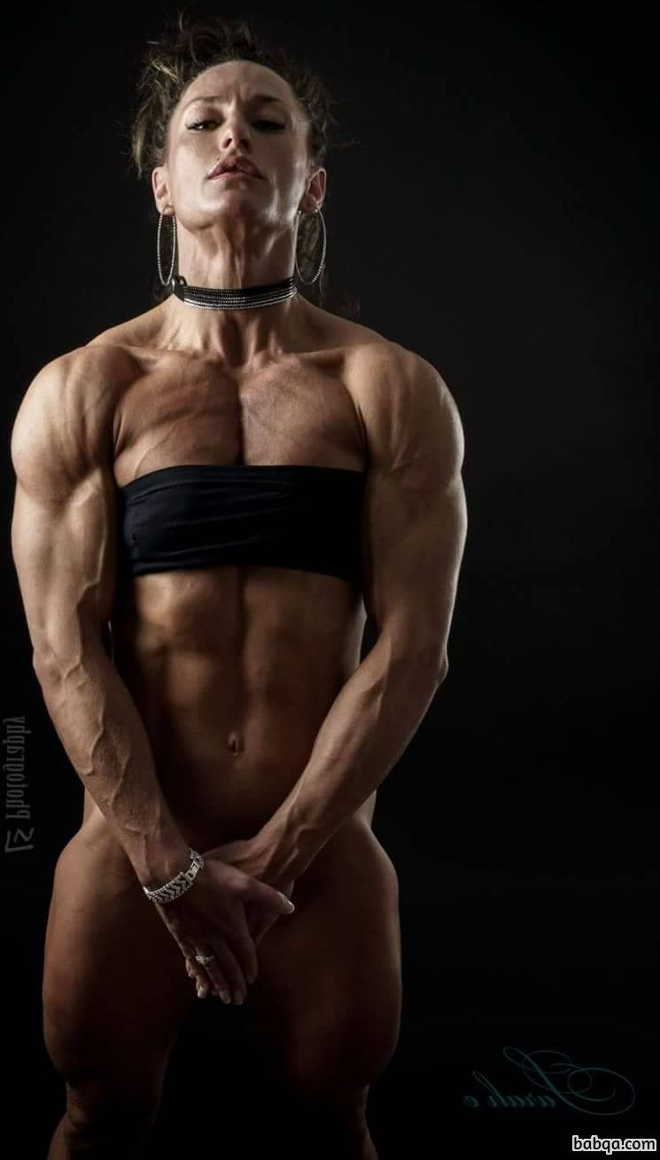 sexy female with muscle body and toned legs photo from reddit