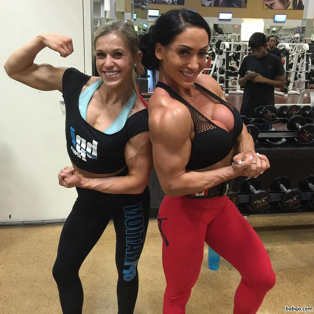 spicy girl with fitness body and toned biceps pic from reddit