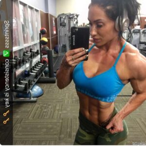 beautiful lady with muscle body and toned booty photo from g+