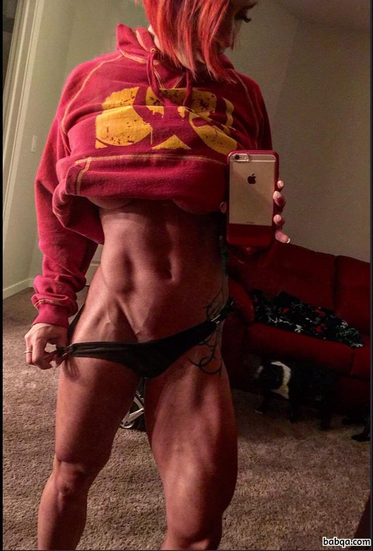 hottest female with muscle body and toned bottom pic from facebook