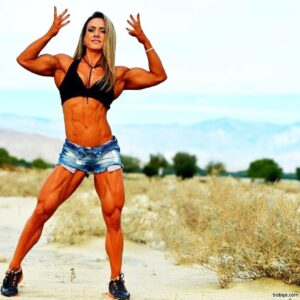cute girl with fitness body and muscle legs pic from g+