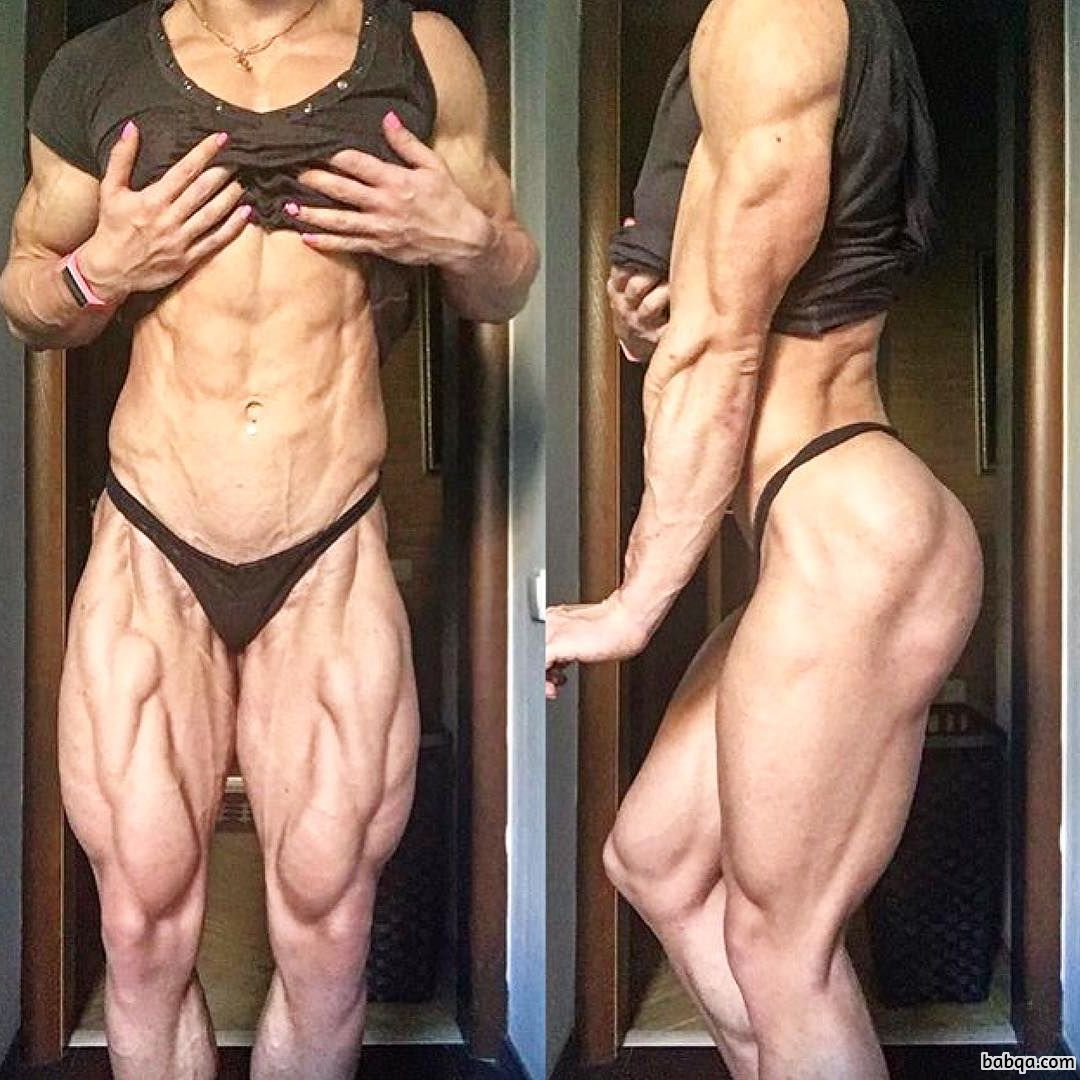 hottest girl with strong body and toned biceps image from linkedin