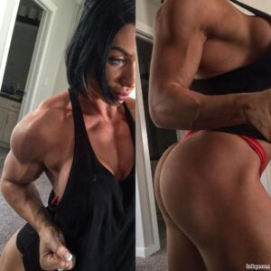 beautiful lady with muscle body and muscle legs pic from g+