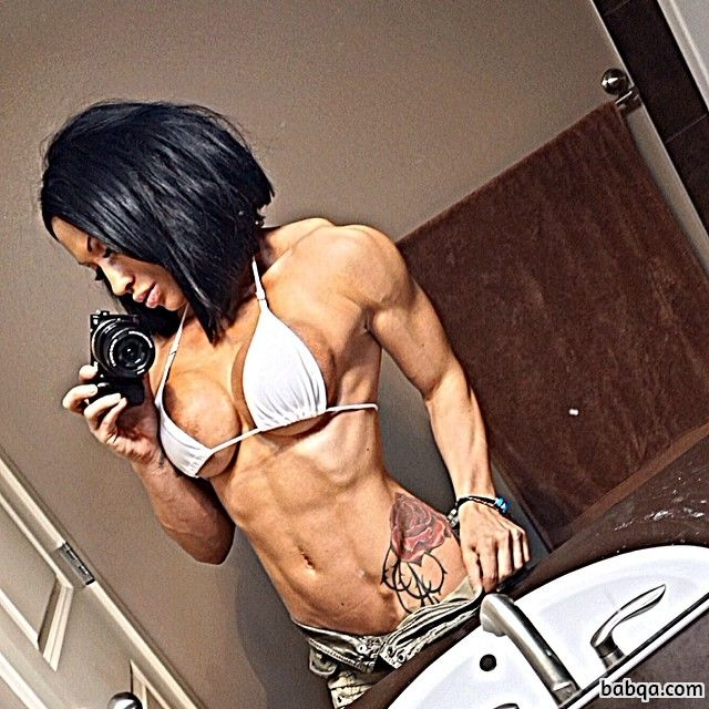 hot female with muscle body and toned booty picture from g+