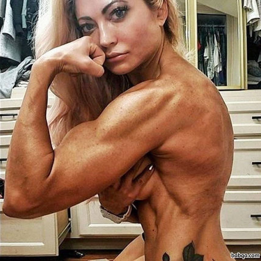 awesome babe with muscle body and muscle legs pic from tumblr