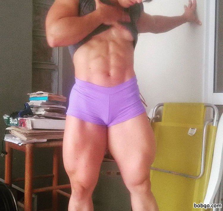 hot female with strong body and toned bottom picture from g+