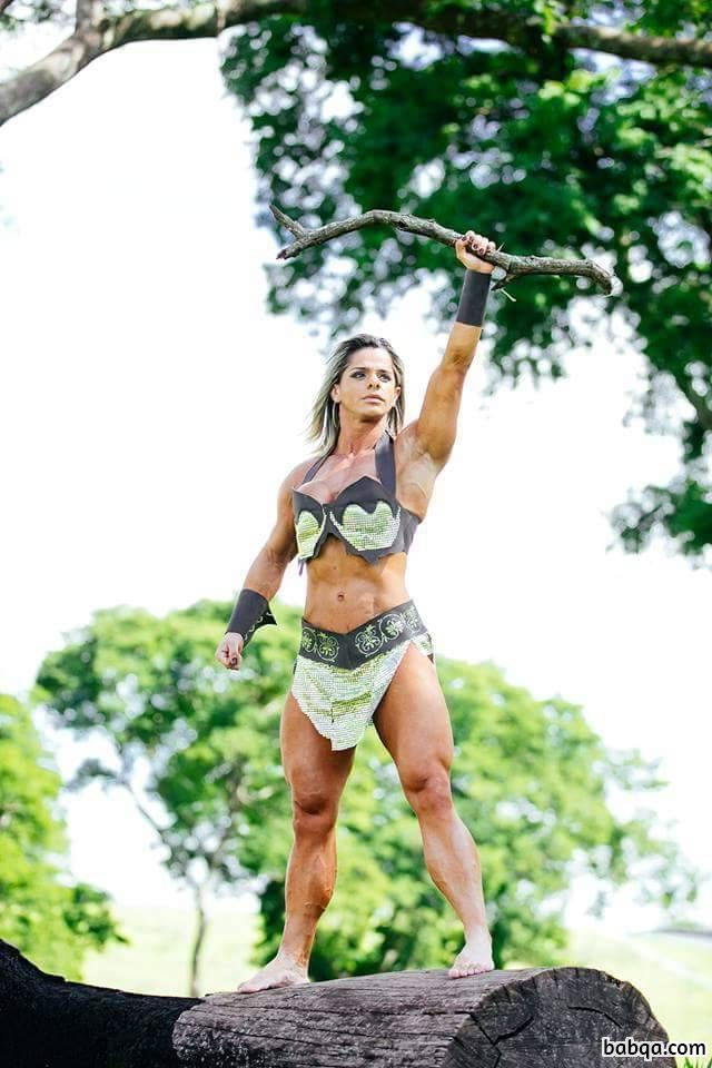 hottest female with strong body and toned legs pic from tumblr