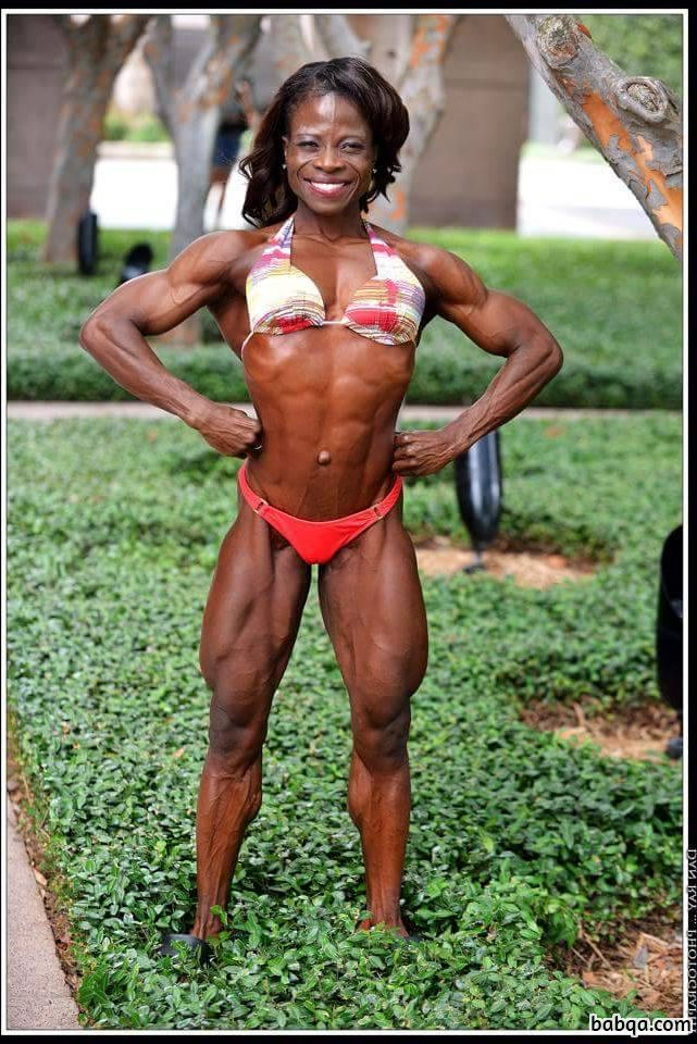 sexy female bodybuilder with fitness body and muscle biceps image from linkedin