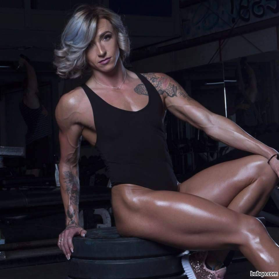 sexy female with muscle body and toned biceps image from instagram
