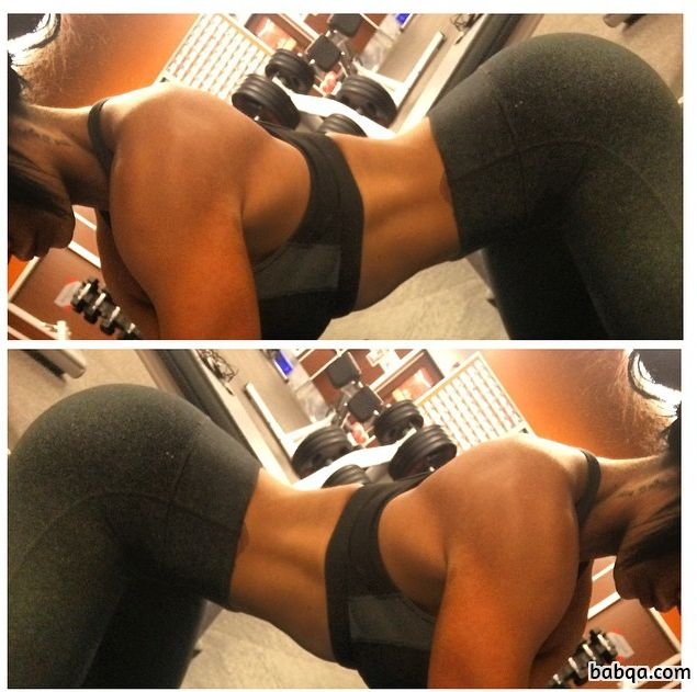 spicy woman with strong body and toned biceps photo from reddit