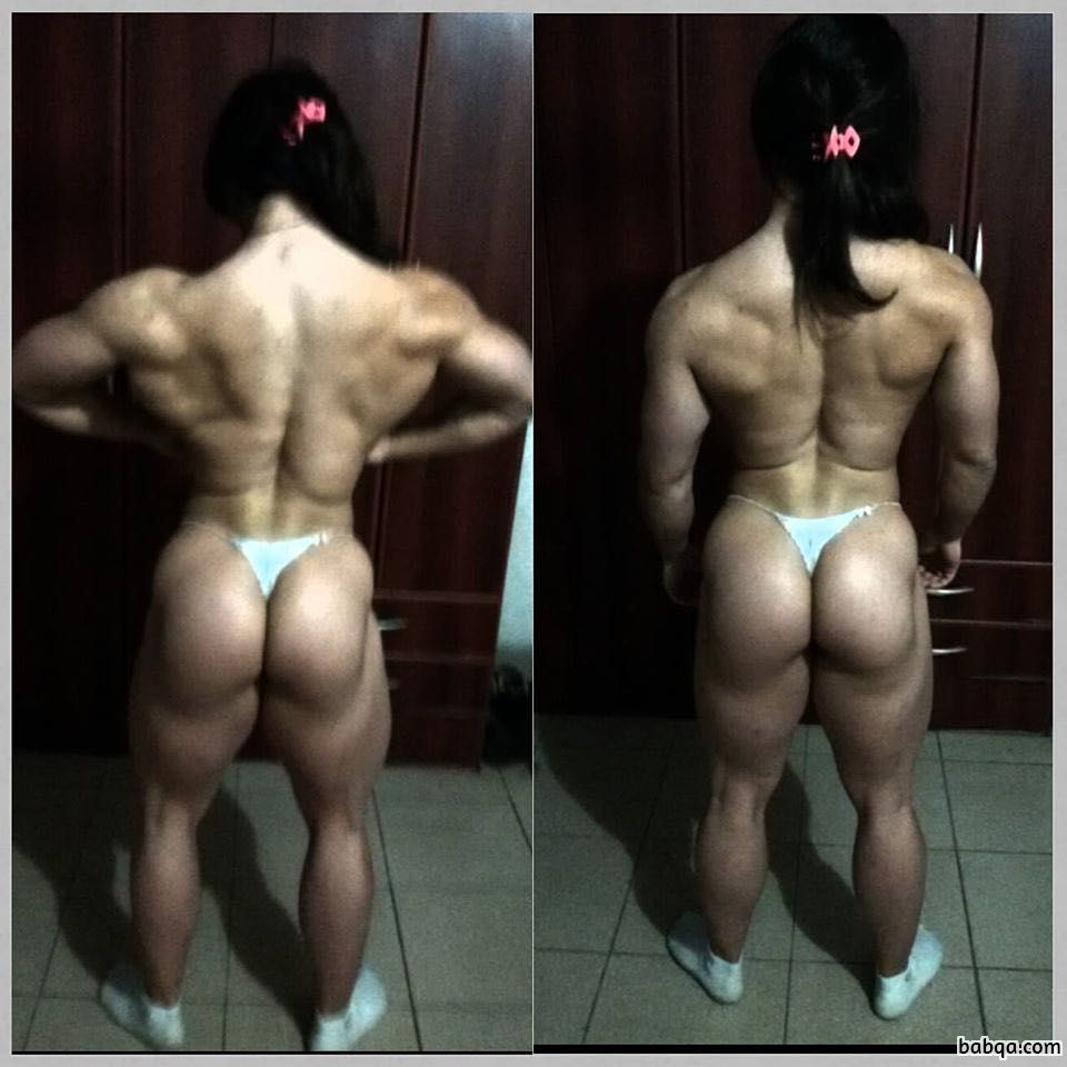 cute girl with muscular body and muscle ass picture from g+