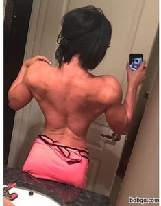 perfect lady with fitness body and muscle arms picture from facebook
