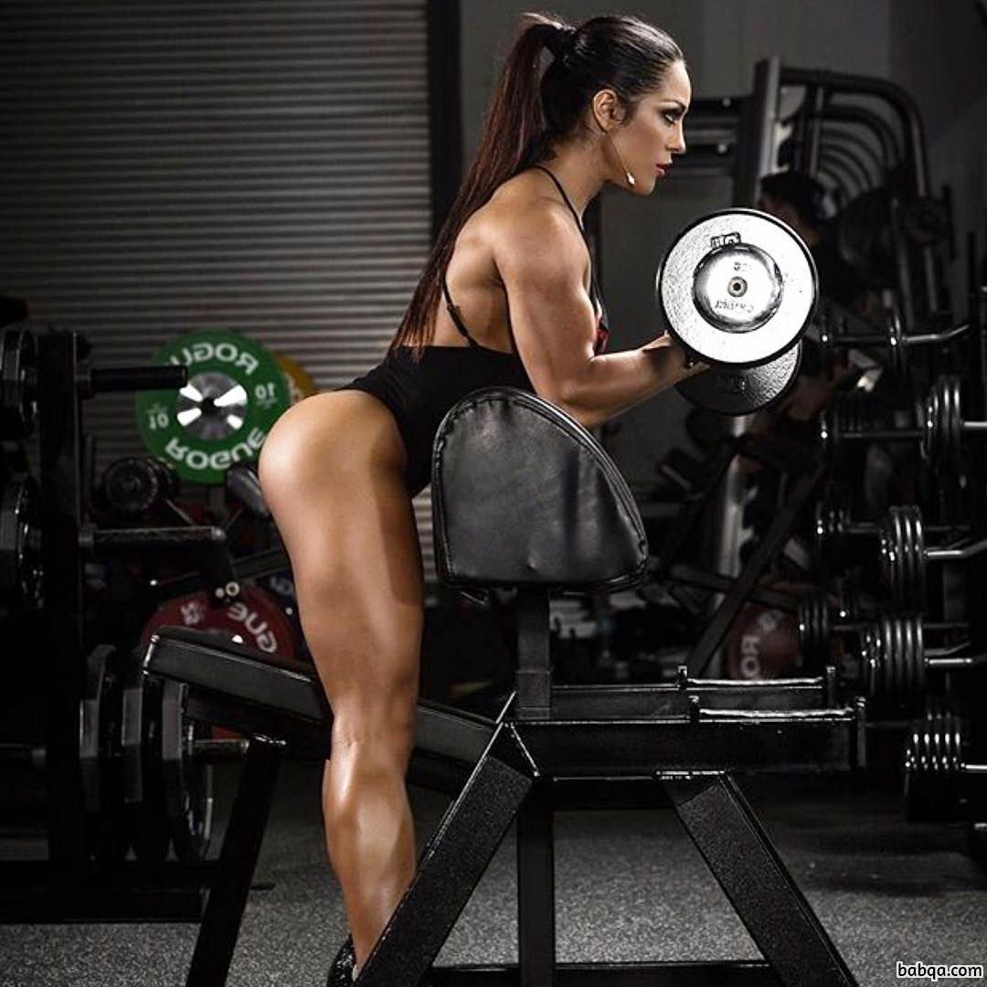 sexy female bodybuilder with strong body and toned arms photo from g+