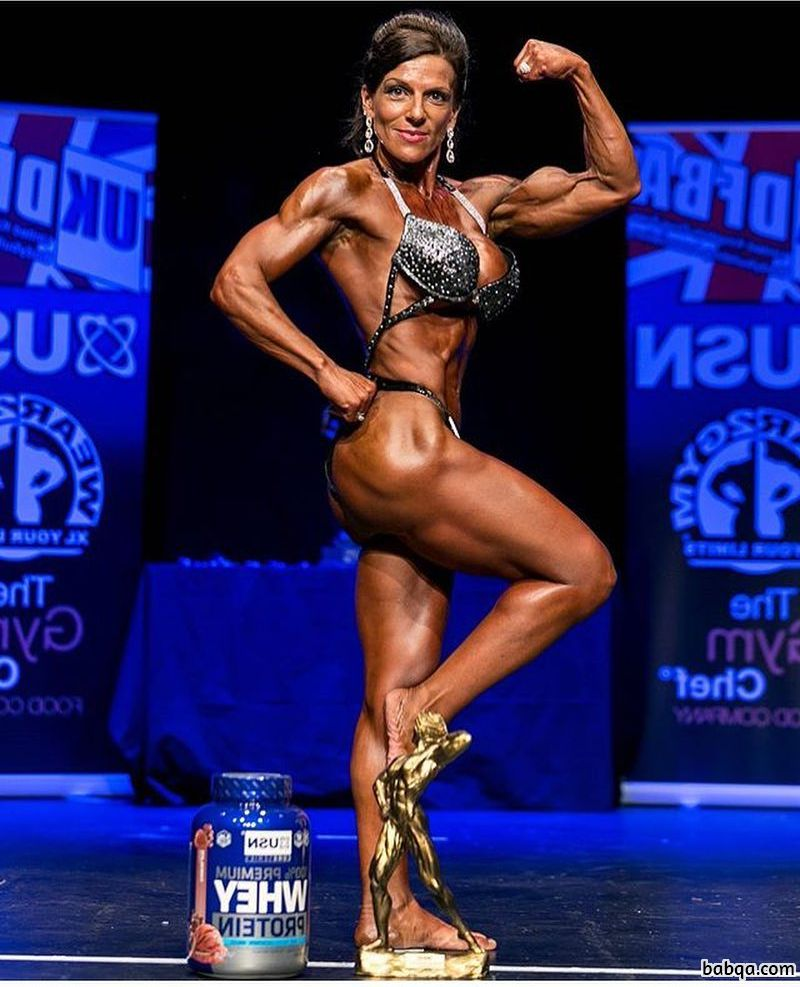 cute female with fitness body and toned biceps post from facebook